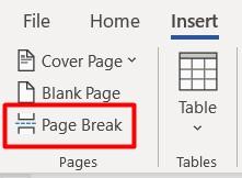 Insert-Page Break