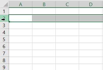 Selectie rand Excel