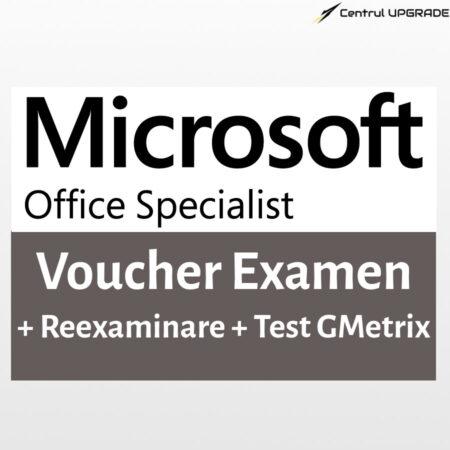 Voucher examen MOS + reexaminare + test GMetrix