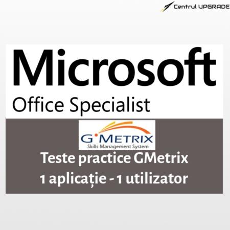 Teste practice Gmetrix MOS - 1 aplicatie - 1 utilizator