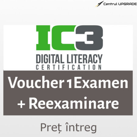 Voucher IC3 1 examen cu reexaminare - intreg