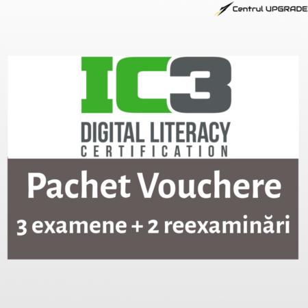 Voucher IC3 3 examene cu 2 reexaminări