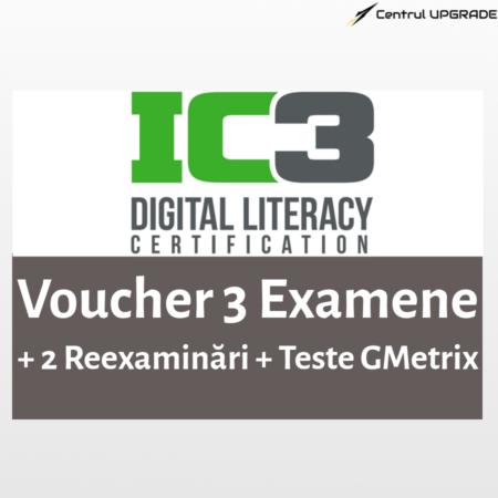 Voucher IC3 3 examene cu 2 reexaminări + Gmetrix