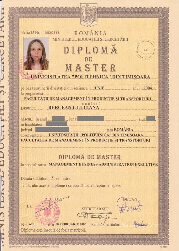 Bercean Luciana - master MBA Executive