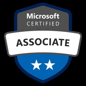 Microsoft certified associate badge
