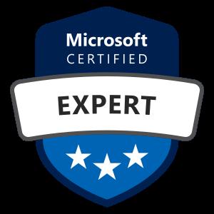 Microsoft certified expert badge