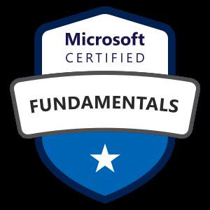 Microsoft certified fundamentals badge