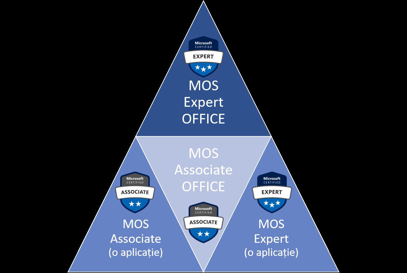 Certificare MOS - niveluri de certificare pentru Office 365